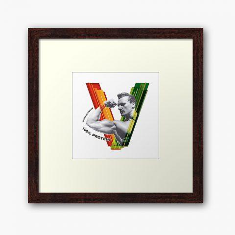 Vegan Beefcake Framed Print