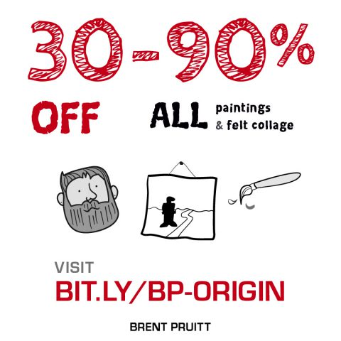 30 to 90 % off all paintings and felt collage