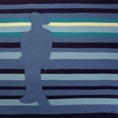 "A Flood of Emotions: Depression. Brent Pruitt, felt assemblage, 12"" x 12"", 2009"