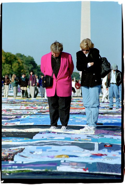 AIDS Memorial Quilt, 1996 [On the Mall #29]. Brent Pruitt. 35mm photograph, 1996