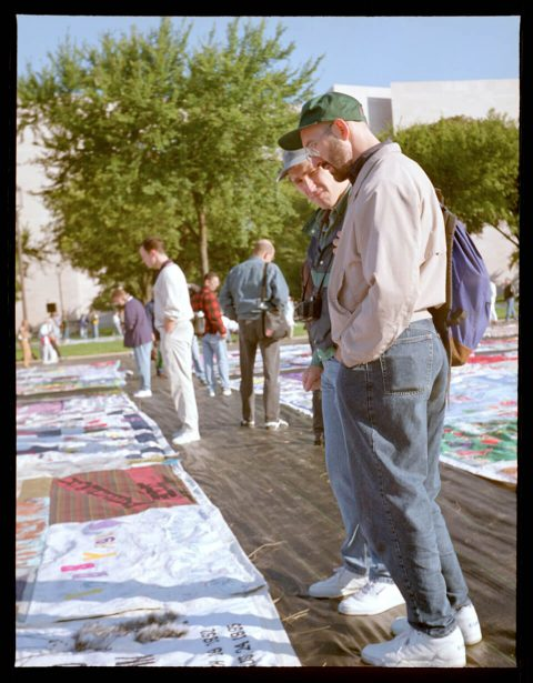 AIDS Memorial Quilt, 1996 [On the Mall #35]. Brent Pruitt. 220mm photograph, 1996