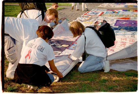 AIDS Memorial Quilt, 1996 [Setup #04]. Brent Pruitt. 35mm photograph, 1996