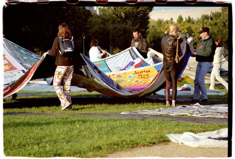 AIDS Memorial Quilt, 1996 [Setup #07]. Brent Pruitt. 35mm photograph, 1996
