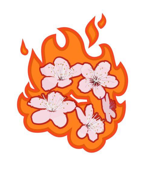 Allergy Season: Burn Flowers Burn. Brent Pruitt, illustration, 2012