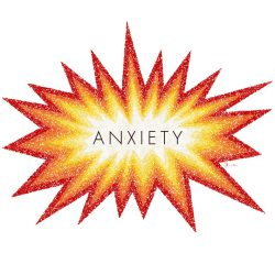 Anxiety, illustration by Brent Pruitt