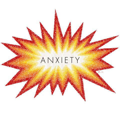 Anxiety. Brent Pruitt, illustration, 2017