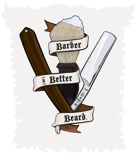 Barber a Better Beard, Inc. Brent Pruitt, illustration, 2013