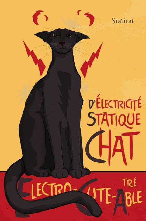 d'Électricité Statique Chat [Staticat] Brent Pruitt, illustration, 2016