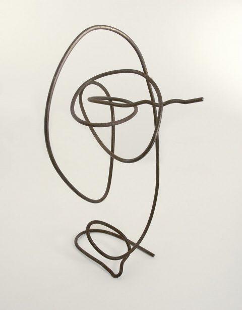 "Egghead. Brent Pruitt, wire sculpture, 6.25"" x 4"" x 4"", 1994"