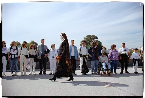Hands Around the Capitol [#48]. Brent Pruitt. 35mm photograph, 1996