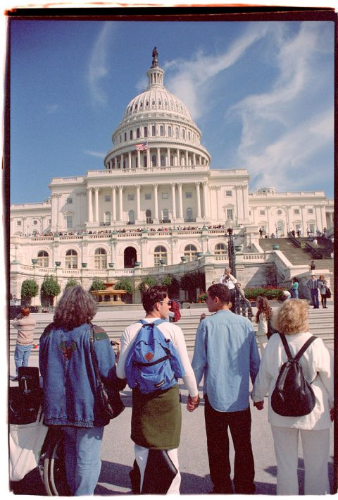 Hands Around the Capitol [#55]. Brent Pruitt. 35mm photograph, 1996