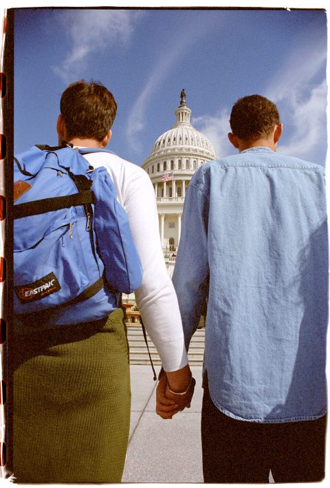 Hands Around the Capitol [#57]. Brent Pruitt. 35mm photograph, 1996