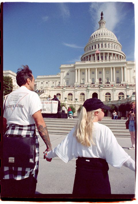 Hands Around the Capitol [#58]. Brent Pruitt. 35mm photograph, 1996