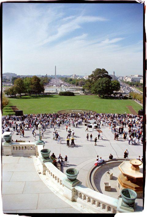 Hands Around the Capitol [#67]. Brent Pruitt. 35mm photograph, 1996