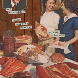 How Offal. Brent Pruitt, collage, 2019