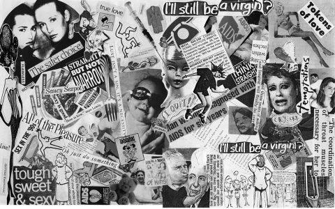 I'll Still Be A Virgin? Brent Pruitt, assemblage/collage, 1993