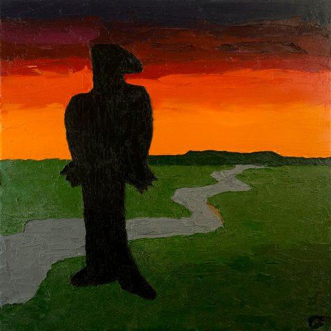 "Last of the Blue Ridge, Brent Pruitt, oil on canvas, 24"" x 24"", 2010"