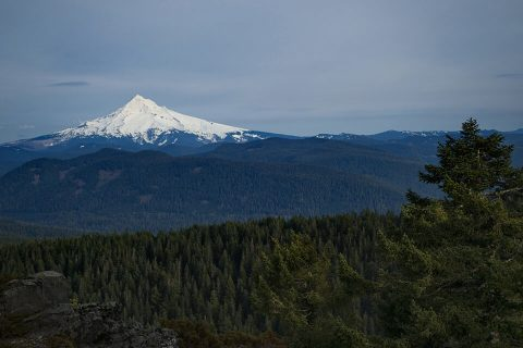 Mount Hood, view from Larch Mountain, Oregon. Brent Pruitt, digital photograph, 2014