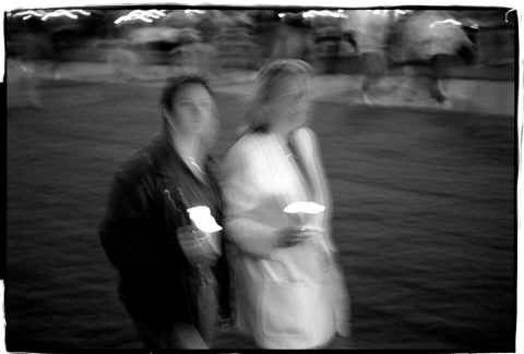 National AIDS Candlelight Vigil and March [#72]. Brent Pruitt. 35mm b/w photograph, 199
