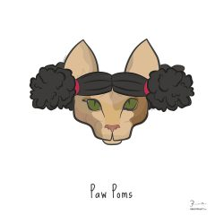 Paw Poms — Trendy Hair Styles for Sphinx Cats