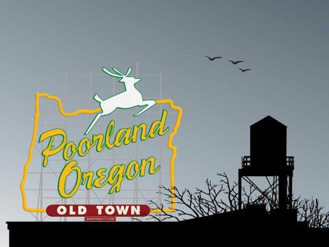 Poorland, Oregon [Rooftop]. Brent Pruitt, illustration, 2010