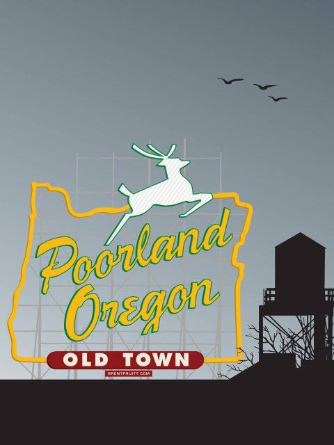 Poorland, Oregon [Rooftop Portrait]. Brent Pruitt, illustration, 2010