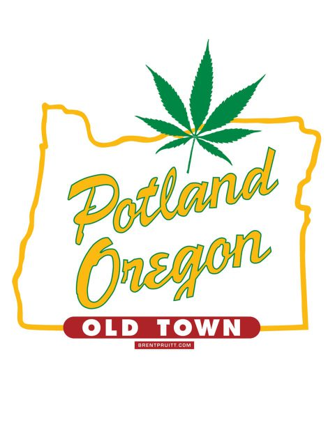 Potland Oregon [Leaf]. Brent Pruitt, illustration, 2010