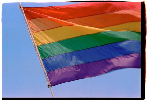 Pride Flag. Brent Pruitt, 35mm photograph, 1996