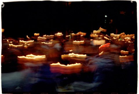 Procession of Light [National AIDS Candlelight Vigil and March #82]. Brent Pruitt. 35mm photograph, 1996