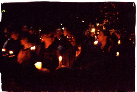 Procession of Light [National AIDS Candlelight Vigil and March #85]. Brent Pruitt. 35mm photograph, 1996