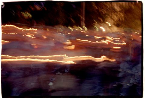 Procession of Light [National AIDS Candlelight Vigil and March #86]. Brent Pruitt. 35mm photograph, 1996