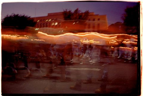Procession of Light [National AIDS Candlelight Vigil and March #88]. Brent Pruitt. 35mm photograph, 1996