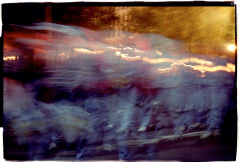 Procession of Light [National AIDS Candlelight Vigil and March #89]. Brent Pruitt. 35mm photograph, 1996