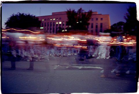 Procession of Light [National AIDS Candlelight Vigil and March #90]. Brent Pruitt. 35mm photograph, 1996