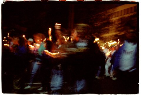 Procession of Light [National AIDS Candlelight Vigil and March #91]. Brent Pruitt. 35mm photograph, 1996