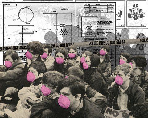 Quarantine [Contagion]. Brent Pruitt, assemblage/collage, 2016
