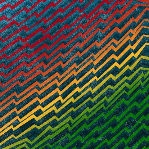 Rainbow Zig Zag. Brent Pruitt, illustration, 2017