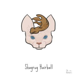 Shagrug Hairball — Trendy Hair Styles for Sphinx Cats