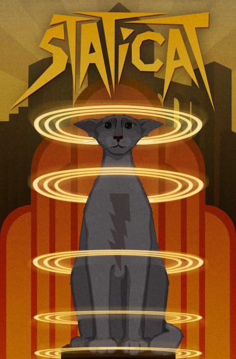 Staticat [Metropolis]. Brent Pruitt, illustration, 2016