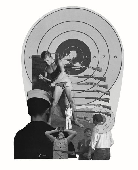 Target [Redux]. Brent Pruitt, assemblage/collage, 2017