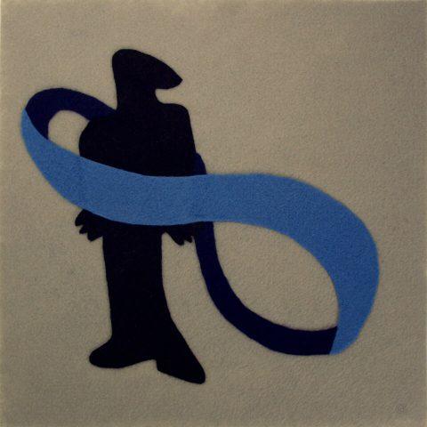 "This Will Not Last. Brent Pruitt, felt assemblage, 12"" x 12"", 2009"