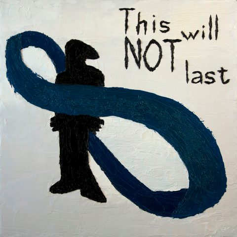 """This Will Not Last. Brent Pruitt, oil on canvas, 24"""" x 24"""", 2010"""